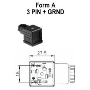 Form A 4 Pin Solenoid Connector