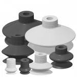 Single Bellows Vacuum Suction Cups - Barb Fitting